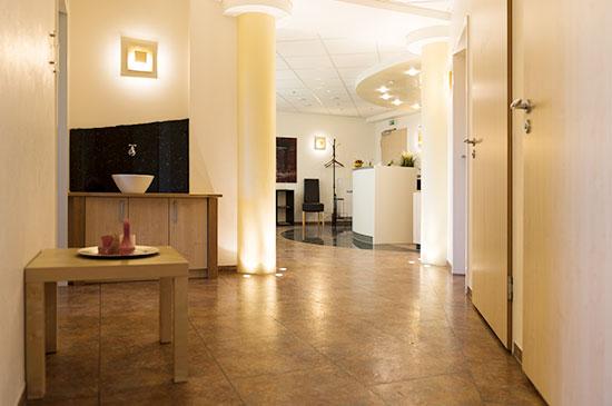 Der Eingangsbereich der Praxis für Podologie Eickmann & Bangert in Hamm