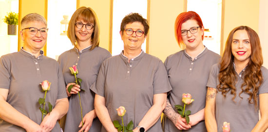 Das Team der Praxis für Podologie Eickmann & Bangert in Hamm
